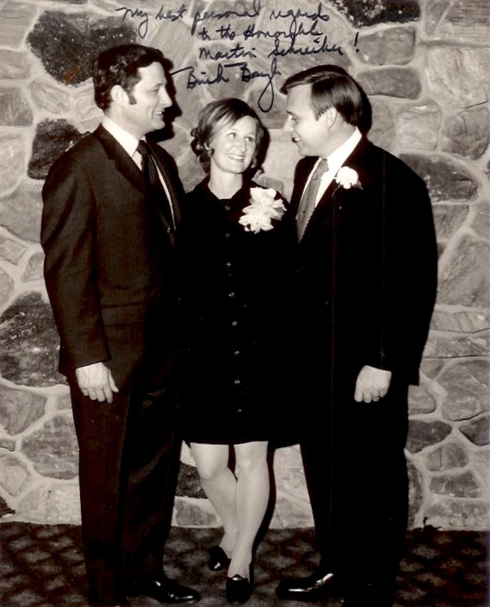 Senator Birch Bayh and Martin Schreiber
