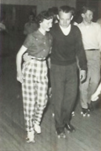 My Two Elaines high school roller-skating
